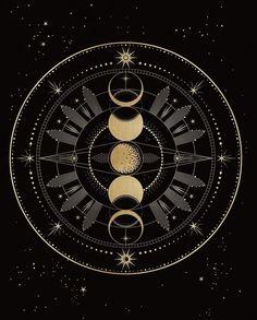 Silarrise emblem/symbol/coat of arms/e. - Silarrise emblem/symbol/coat of arms/e. Tattoo Sonne, Skull Tatto, Moon Art, Moon Phases Art, Moon Child, Coat Of Arms, Stars And Moon, Art Inspo, Illustration Art