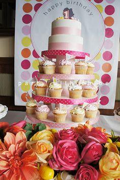 First birthday cake idea - I like the setup