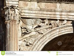 Winged Victory From The Arch Of Constantine Stock Photo - Image ...