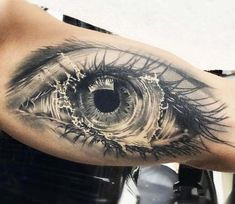Tattoo photo - Eye tattoo by Bolo Art Tattoo 3d Tattoos, Large Tattoos, Flower Tattoos, Body Art Tattoos, Sleeve Tattoos, Cool Tattoos, Future Tattoos, Tattoos For Guys, Tattoos For Women