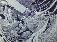 Silver surfin' - gorgeous wave art in Seattle