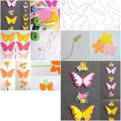 How to make Paper Butterfly Mobile step by step DIY tutorial instructions / How To Instructions