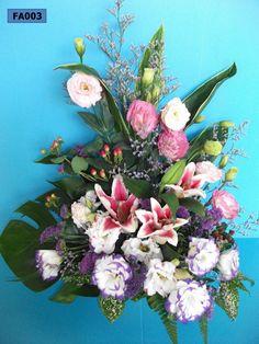 FA003: Floral Arrangement of Eustomas & Lilies
