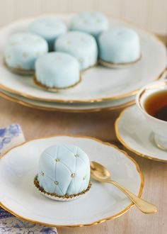 Quilted Petit Fours | Thirsty for Tea