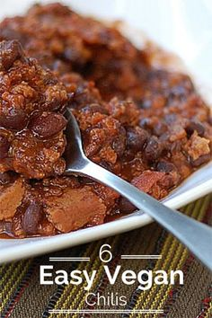 6 Vegan Chilis for a Perfect Fall - includes slow cooker recipes!