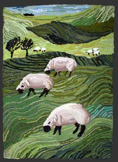 Grazing Sheep 2004 Louisa Creed