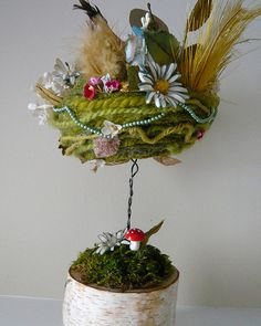 Winter Bird's Nest Assemblage, back | by Katie Runnels