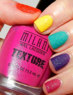 Let them have Polish!: Milani Textured Polish Skittles @Milani Cosmetics