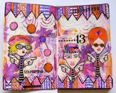 Lisa's Collage Stuff Blog: Make a Wish art journal page
