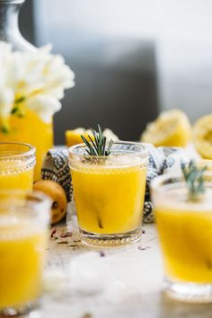 Apricot Rosemary Lemonade