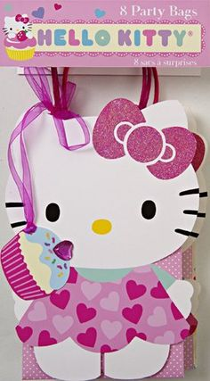 BESTSELLER! Meri Meri Hello Kitty Party Bags (Set of 8) $13.99