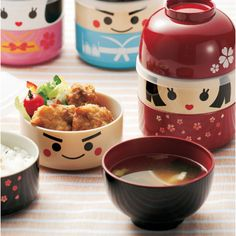 Hakoya Japanese lunch bento box Samurai Kokeshi