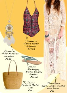 This threadsence Gypsy Junkie Crochet dress is perfect for Coachella! #threadsence #coachella