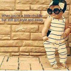 When you're a little chubby but still got style and swag!  too cute!