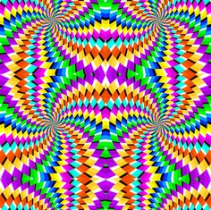 movement in op art Cool Optical Illusions, Art Optical, Op Art, Fractal Art, Fractals, Eye Tricks, Mind Benders, 3d Quilts, Kinetic Art