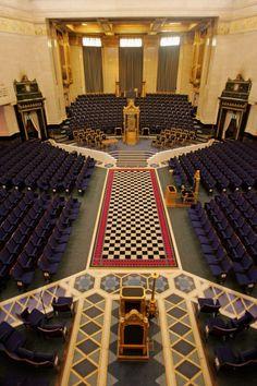 Vista general del Gran Templo dentro de la Freemason's Hall, en Londres. / GETTY