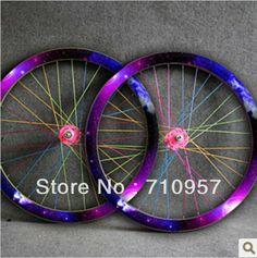 77ba2d566a80 New Star Nebula Pattern Fixie Bike Single Speed Fixed Gear bike Wheel Rim  Stickers