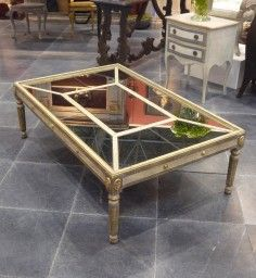 Bett Mirror T1267 130 Collette Square Coffee Table In Antique Gold By 900 00 Designer Delafield Belongs To Coll