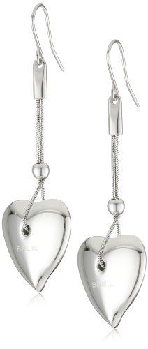 "Breil Jewelry ""Feeling"" Silver Tone Heart Pendant Necklace Earrings Breil Jewelry. $44.99. Made in China. Made in CN. Save 40% Off!"