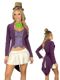 Willy Wonka Mad Hatter Womens Costume