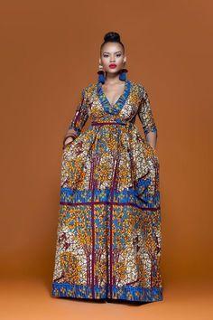 AFRICAN PRINT TOGO MAXI DRESS