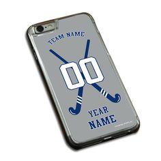 Field Hockey Phone Case Personalized Field Hockey Team with Crossed Sticks
