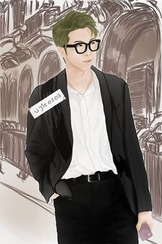 [FA] BTS_Rap Monster  Fanart, BTS fanart, Rap Monster, Kim Namjoon, RapMon, Namjoon, 방탄소년단
