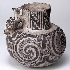 Tularosa Black-on-white pitcher, ca. 1200-1300 CE Zuni River, Apache Co., AZ Gift of Gila Pueblo Foundation, 1950 Scorse Collection