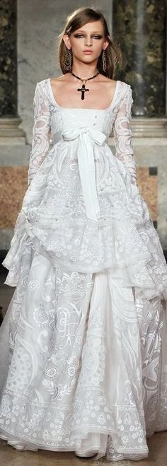 Emilio Pucci / Stunning Bridal Gown <3  - I haven't said this about any other wedding gown to date - BUT - If I were getting married again, this is the gown I would choose.  I LOVE THIS!  Totally different from my actual wedding gown but it is stunning in its own way.