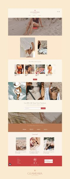 This #shopify #website design is simple and elegant with it's neutral colors and sleek #typography. Beautiful Website Design, Website Design Inspiration, Fashion Website Design, Brand Book, Website Layout, Branding Design, Packaging Design, Swimwear Brands, Swimwear Fashion