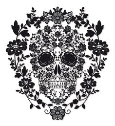 intricate sugar skull