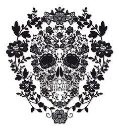 intricate sugar skull