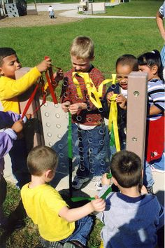 "Preschool Playgrounds: ""It's Simply a Classroom"": Art: Weaving Panel (Part 4 of 4)"