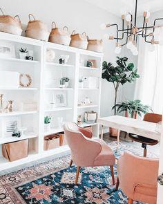 Cozy Home Office, Home Office Space, Home Office Decor, Home Decor, Office Rug, Closet Office, Office Setup, Office Inspo, Modern Office Decor