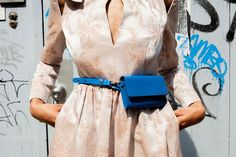 How to Style a Nightgown for Daytime New belt, who dis? Womens Fashion Online, Latest Fashion For Women, Fashion Bags, Fashion Accessories, Waist Purse, Leather Belt Bag, Trendy Swimwear, Night Gown, Ideias Fashion