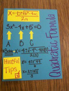 Math = Love: Algebra 2 foldables
