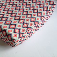 Aztec Baby Bedding - Changing Pad Cover - Crib Sheets - Standard or Mini Crib Sheet / Coral Navy Mint Aztec Crib Sheet / Nursery Crib Sheets by Babiease on Etsy https://www.etsy.com/listing/110880983/aztec-baby-bedding-changing-pad-cover
