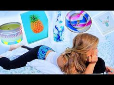 5 AWESOME DIY ROOM DECOR IDEAS: Summer Edition! - YouTube this is honesly the most amazing diys ever and for so cheap