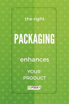 The right packaging enhances your product Product Packaging, Packing, High Standards, Bag Packaging