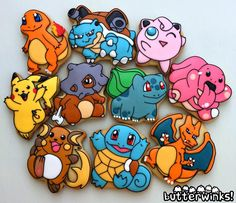 Pokemon cookies - For all your cake decorating supplies, please visit craftcompany.co.uk