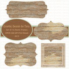 Новые деревянные рамы клипарт по graphicdesignbytara на etsy