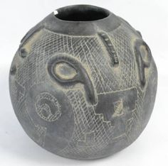 Clay Pottery Tribal Native Folk Art