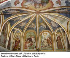 Cristoforo Baschenis il Giovane (1560 ca.- 1626) - Scene della vita di San Giovanni Battista - affreschi - 1583 - Oratorio di San Giovanni Battista - Cusio (Bergamo,Italia)