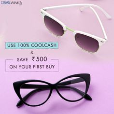 Branded Eyewear Just Got Affordable! UPTO 99% OFF on Eyeglass Frames, Lens Package starts @ Rs.590 @Coolwinks. Use 100% CoolCash & Save UPTO Rs.500 on your first purchase. Buy Now.