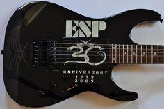ESP KH-30 Kirk Hammett 30th Anniversary Electric Guitar Kirk Hammett Guitars, Esp Guitars, Floyd Rose, Studio Gear, New Museum, Guitar For Beginners, 30th Anniversary, Skull And Bones, Custom Paint