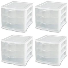 Buy Sterilite ClearView Compact Portable 3 Storage Drawer Organizer Cabinet Pack) at Wish - Shopping Made Fun 5 Drawer Storage, Bathroom Drawer Organization, Bathroom Storage Units, Bathroom Drawers, Drawer Unit, Drawer Organisers, Cube Storage, Closet Storage, Drawer Handles