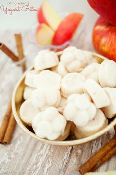 How to Make Apple Cinnamon Yogurt Bites! A healthy and easy recipe!