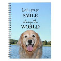 Golden Retriever Change the World Notebook