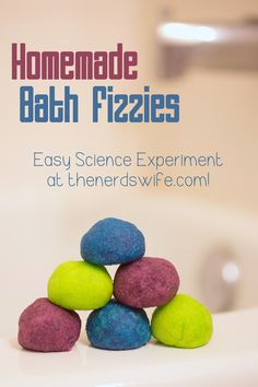 Homemade Bath Fizzies Science Experiment
