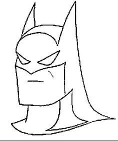 Desenho Batman para colorir e pintar para imprimir.